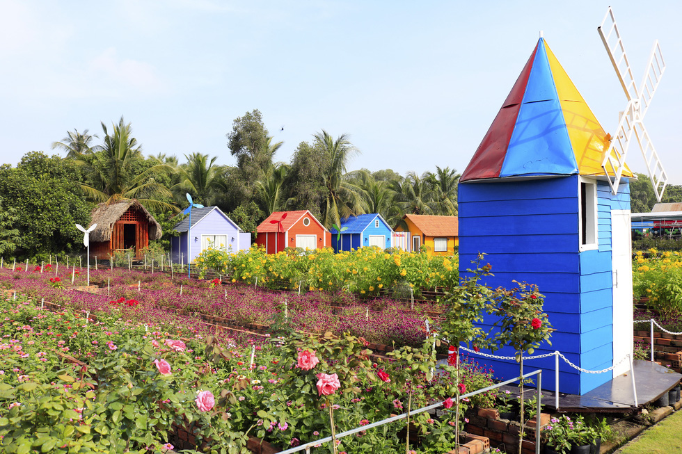 Say ngắm vườn hoa Đà Lạt nở rộ bên sông Sài Gòn - Ảnh 6.