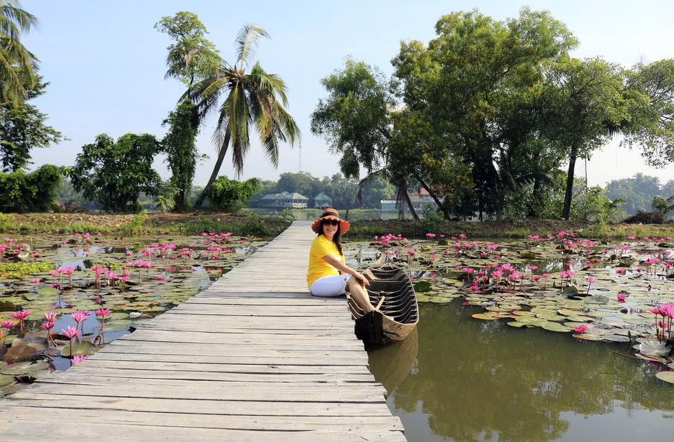 Say ngắm vườn hoa Đà Lạt nở rộ bên sông Sài Gòn - Ảnh 4.