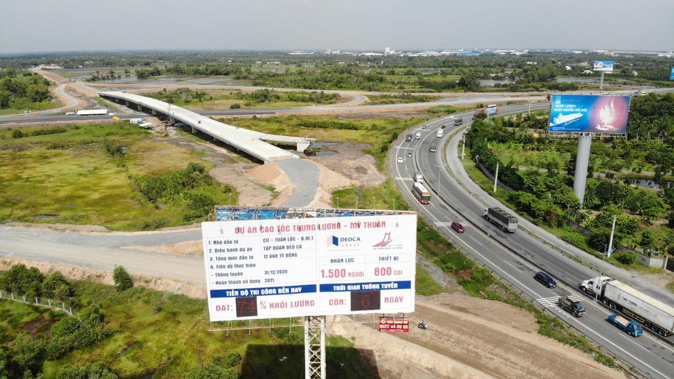 Cao tốc Trung Lương - Mỹ Thuận dồn sức thông xe trước tết - Ảnh 2.