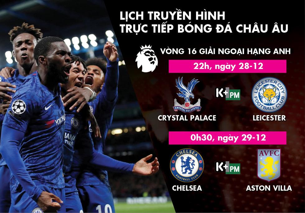 Lịch trực tiếp vòng 16 Premier League: Chelsea và Leicester ra sân - Ảnh 1.