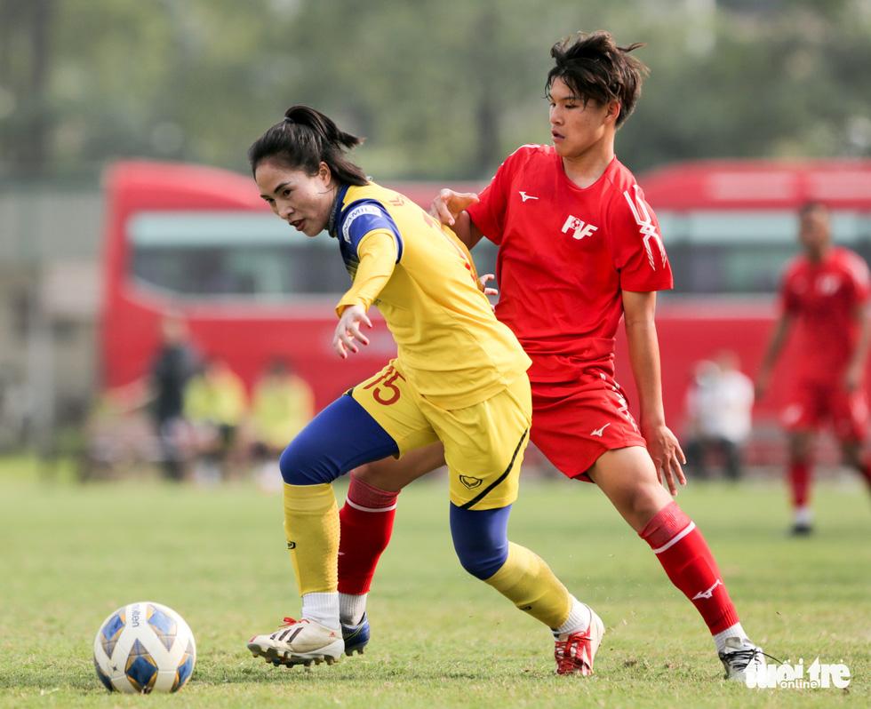 Tuyển nữ Việt Nam thua trắng U16 PVF: HLV Mai Đức Chung vẫn hài lòng - Ảnh 6.