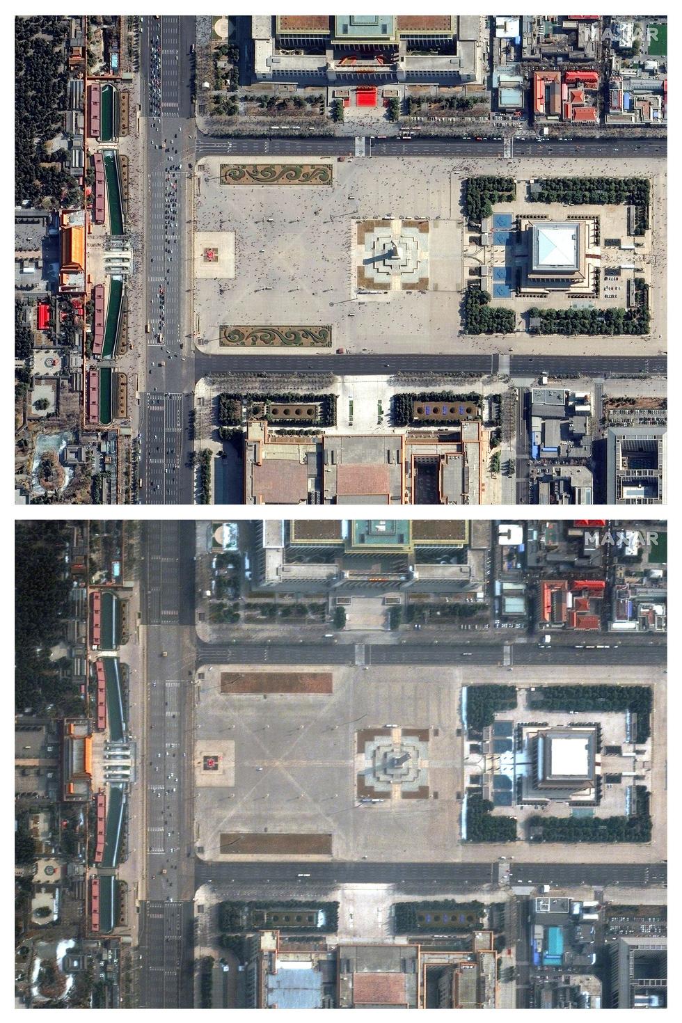 Chùm ảnh: Thế giới trước và sau cơn sóng thần COVID-19 - Ảnh 8.
