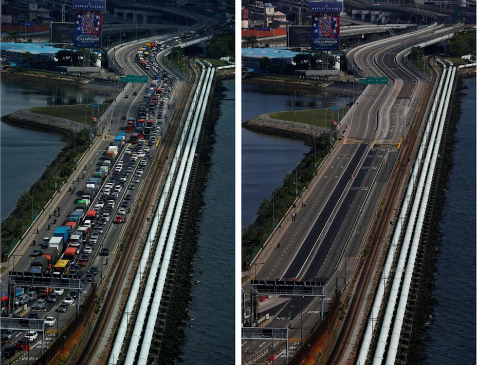 Chùm ảnh: Thế giới trước và sau cơn sóng thần COVID-19 - Ảnh 1.