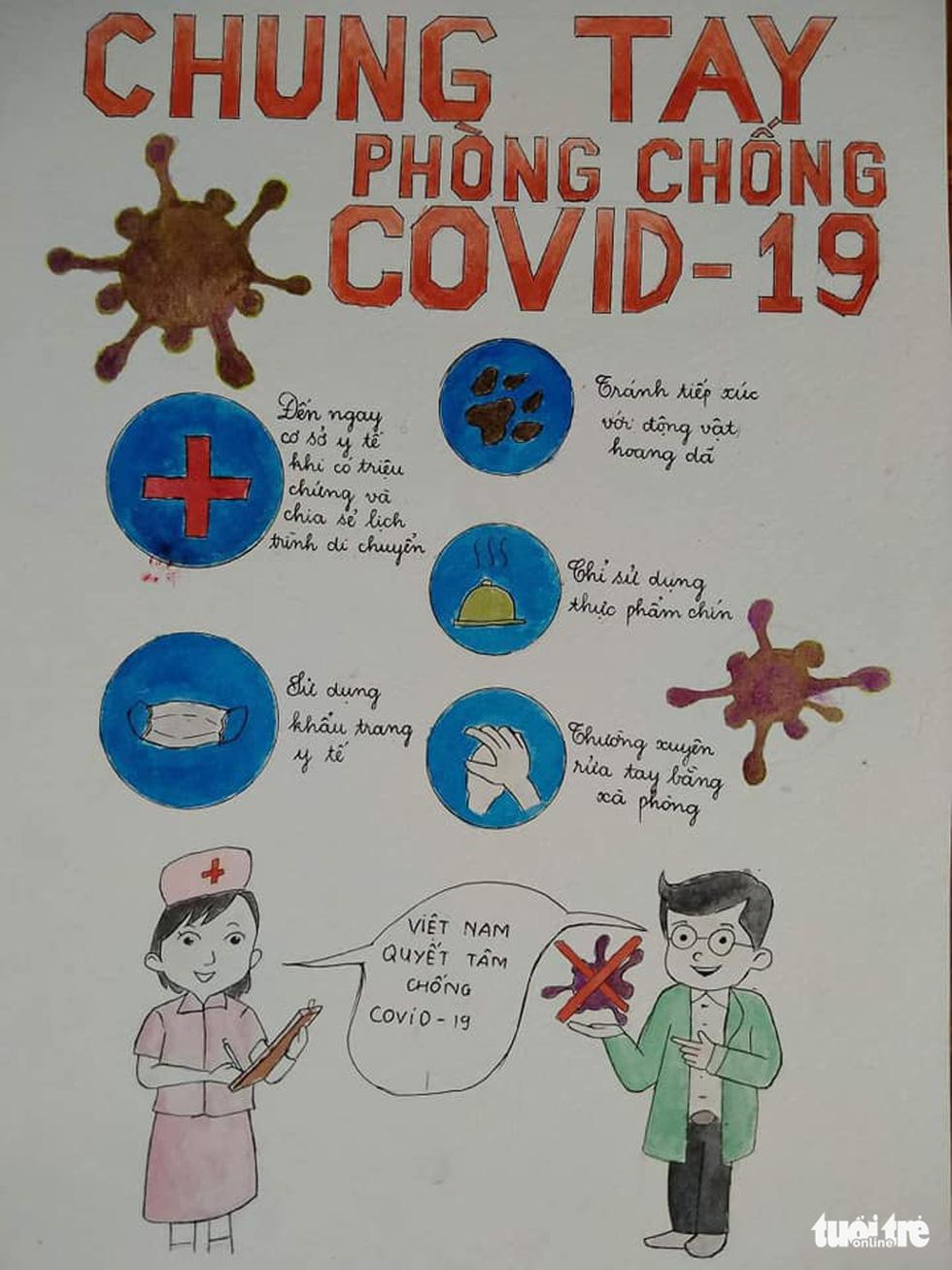 'Cùng áo xanh thắng nhanh COVID-19' qua bộ tranh dí dỏm - Ảnh 6.