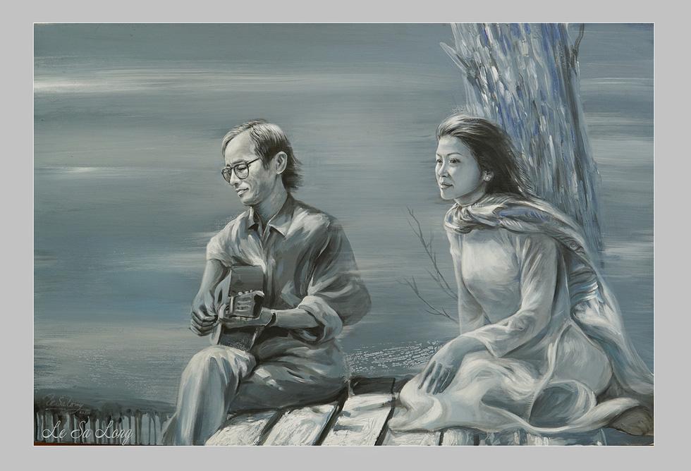 Ai ở đâu, ở yên đó vẫn có thể xem tranh tưởng nhớ Trịnh Công Sơn - Ảnh 1.