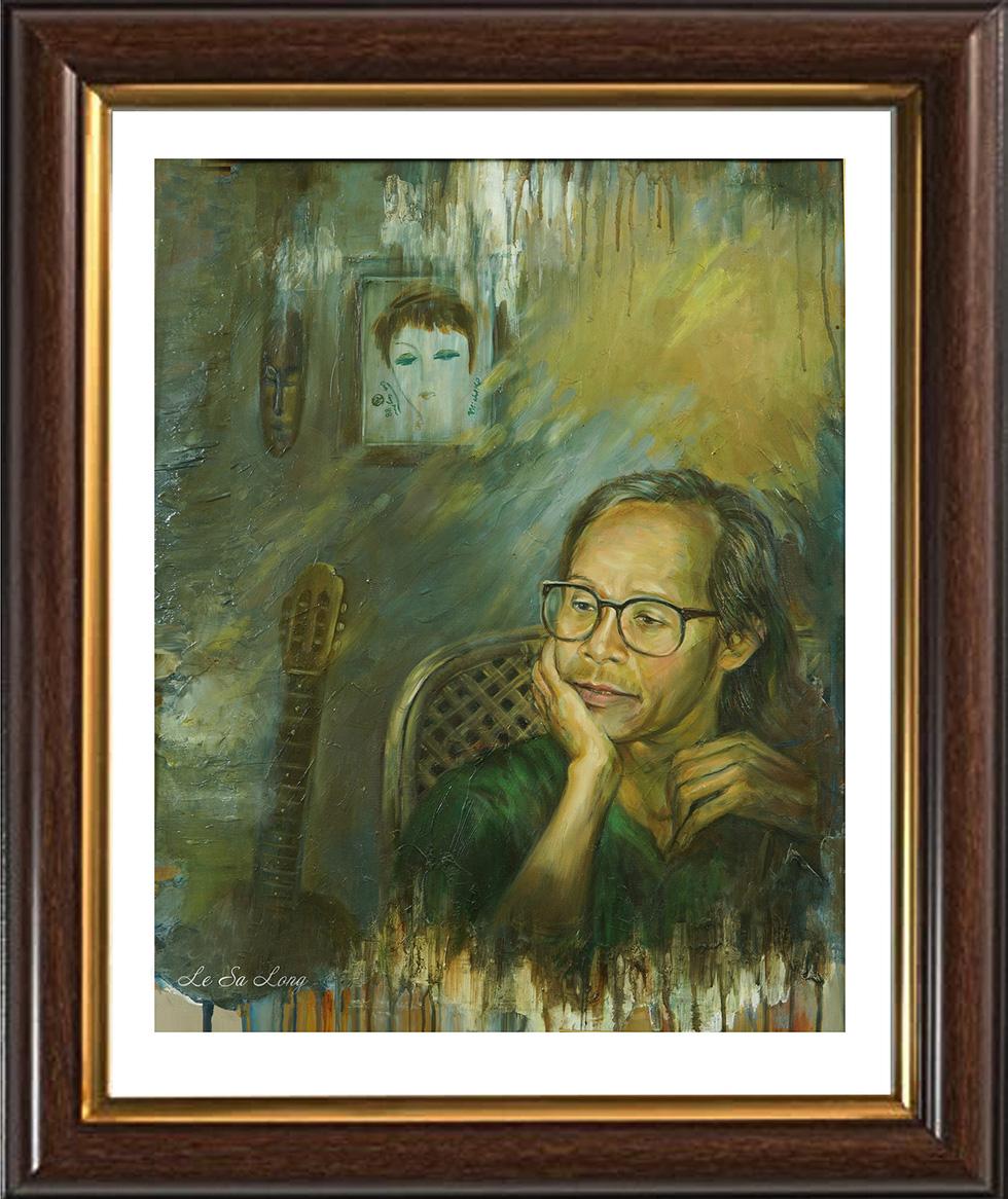 Ai ở đâu, ở yên đó vẫn có thể xem tranh tưởng nhớ Trịnh Công Sơn - Ảnh 7.