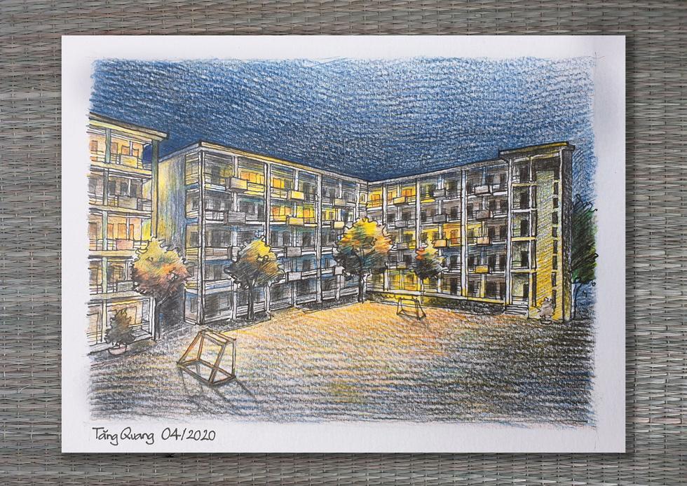 Kiến trúc sư ngập đơn hàng vẽ tranh làm quà tặng cho khu cách ly - Ảnh 12.