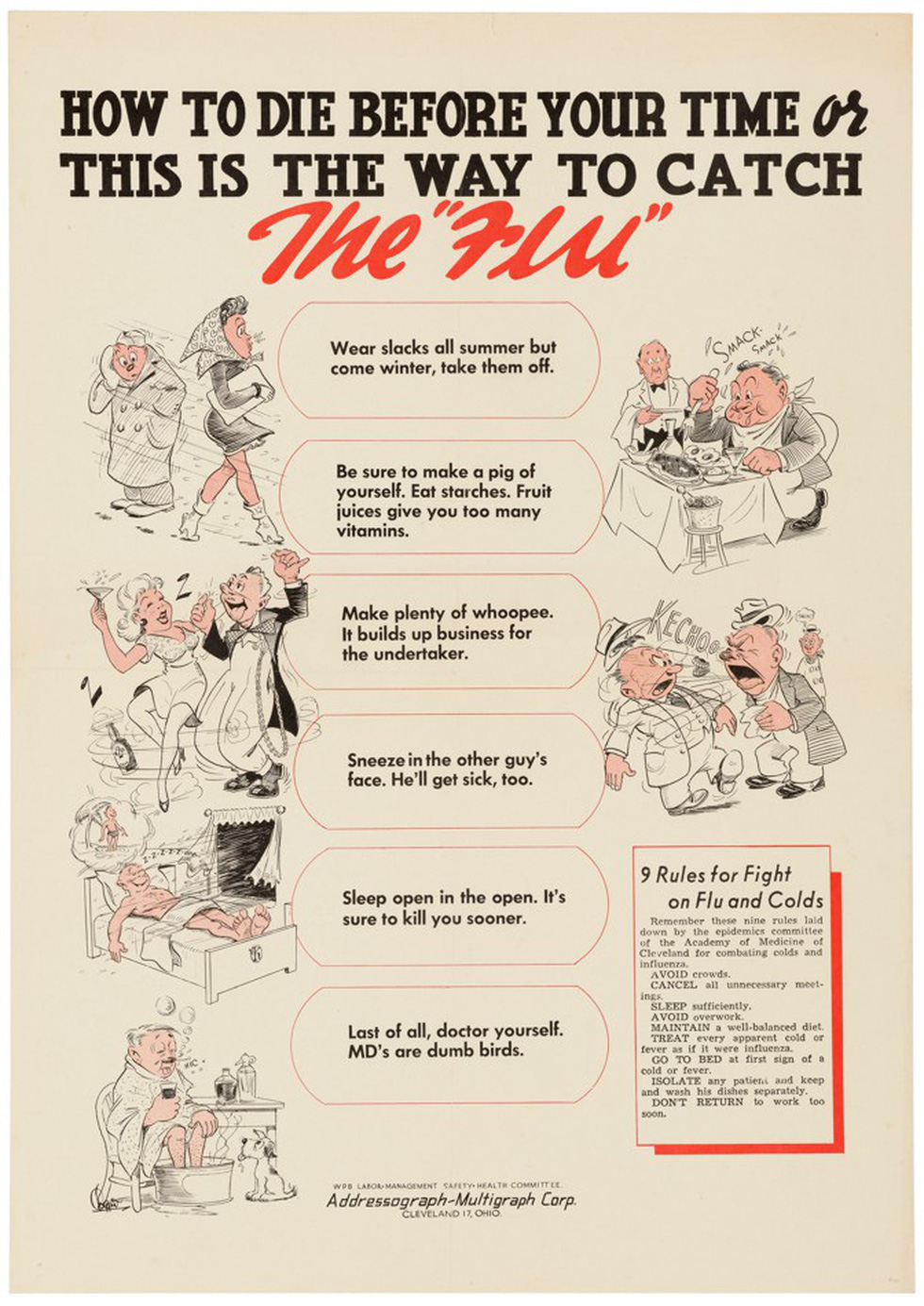 100 năm apphich vẫn thông điệp: Che miệng khi ho, ở nhà khi bệnh, tránh đám đông - Ảnh 4.