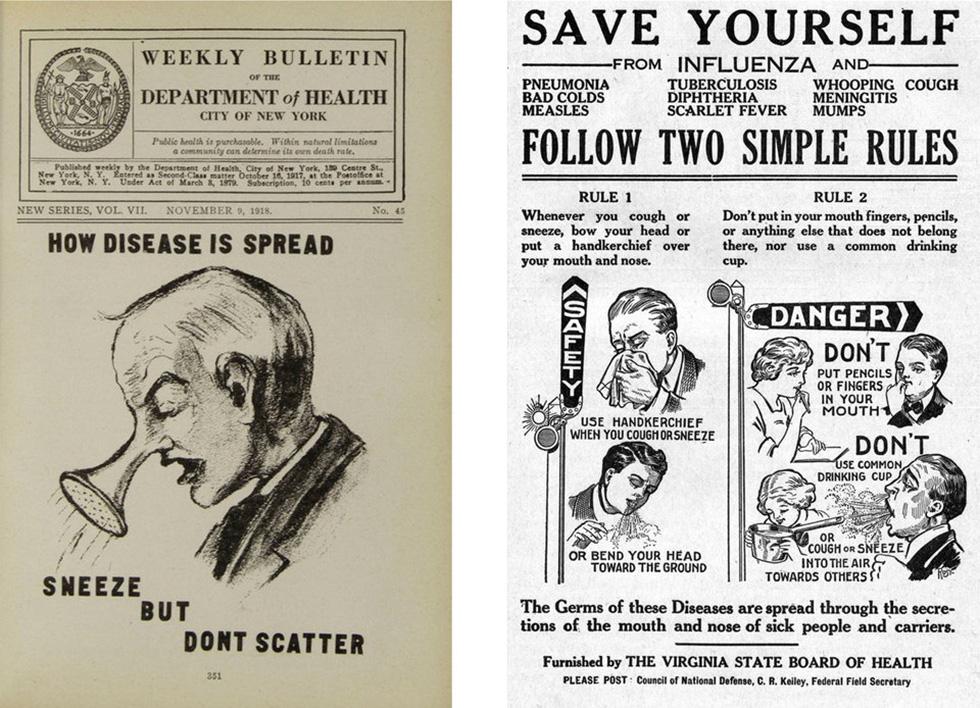 100 năm apphich vẫn thông điệp: Che miệng khi ho, ở nhà khi bệnh, tránh đám đông - Ảnh 2.