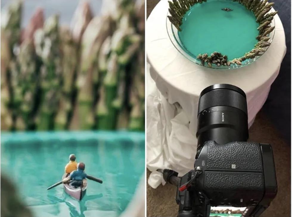 Ở nhà vì dịch, nhiếp ảnh gia du lịch sáng tạo bộ ảnh cực chất từ đồ dùng trong nhà - Ảnh 4.