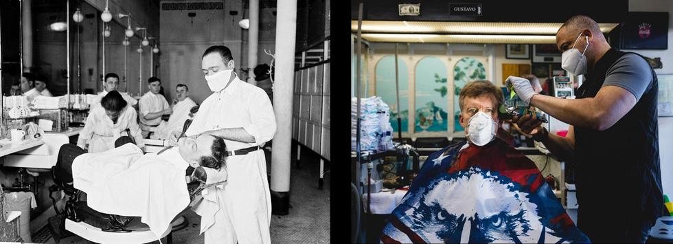 Xem những hình ảnh chống dịch một thế kỷ trước giống y hiện nay - Ảnh 2.