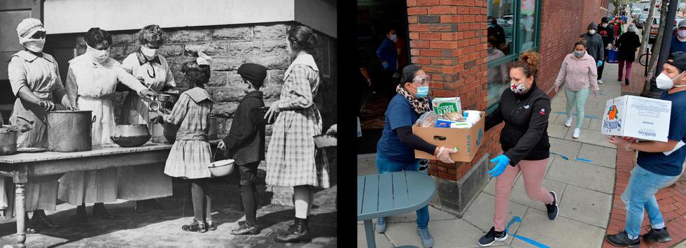 Xem những hình ảnh chống dịch một thế kỷ trước giống y hiện nay - Ảnh 3.