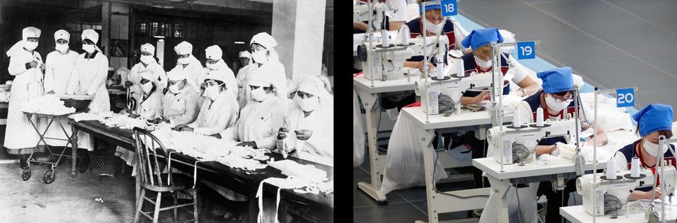 Xem những hình ảnh chống dịch một thế kỷ trước giống y hiện nay - Ảnh 6.
