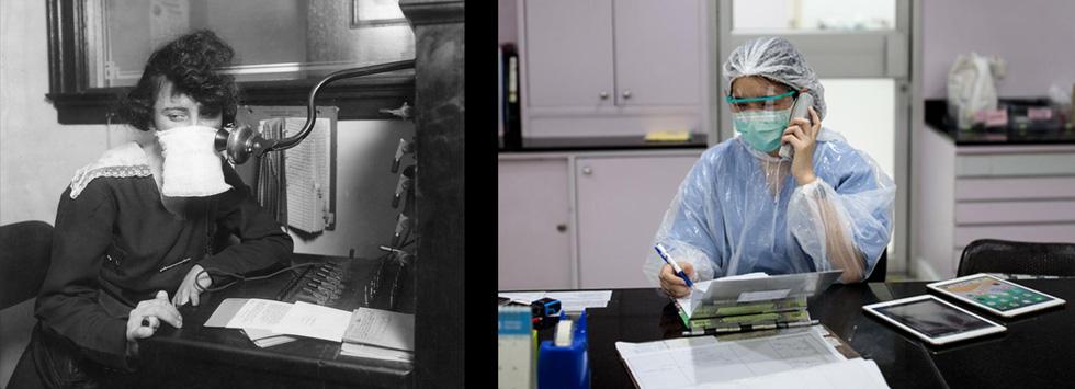 Xem những hình ảnh chống dịch một thế kỷ trước giống y hiện nay - Ảnh 10.