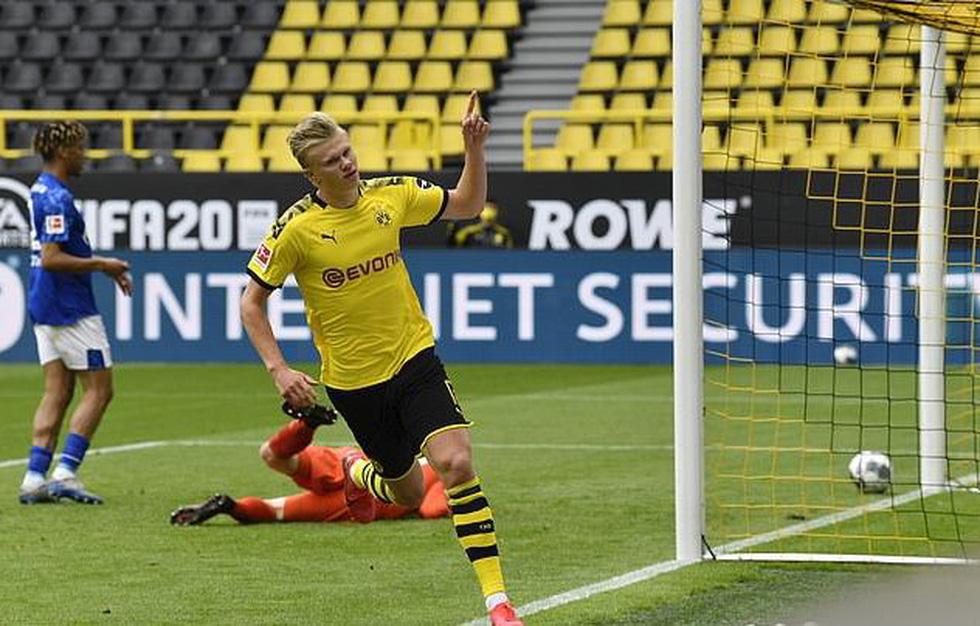 Cầu thủ vừa ăn mừng vừa giãn cách xã hội trong ngày Bundesliga trở lại - Ảnh 5.