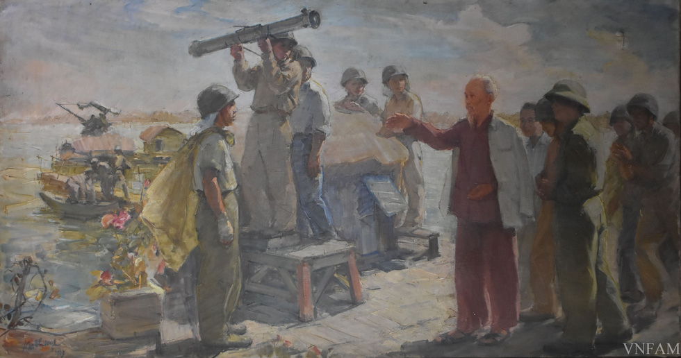 Ngắm tranh Bác Hồ của các danh họa Trần Văn Cẩn, Dương Bích Liên, Lê Bá Đảng - Ảnh 6.