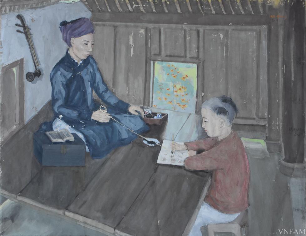 Ngắm tranh Bác Hồ của các danh họa Trần Văn Cẩn, Dương Bích Liên, Lê Bá Đảng - Ảnh 4.