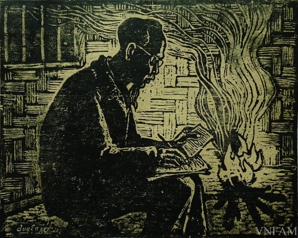 Ngắm tranh Bác Hồ của các danh họa Trần Văn Cẩn, Dương Bích Liên, Lê Bá Đảng - Ảnh 8.