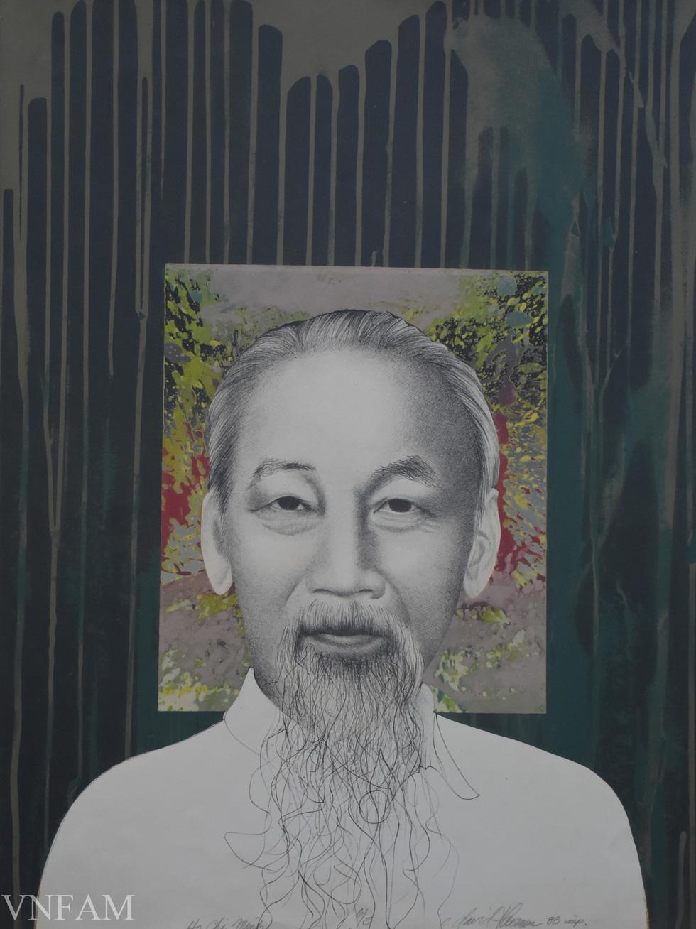 Ngắm tranh Bác Hồ của các danh họa Trần Văn Cẩn, Dương Bích Liên, Lê Bá Đảng - Ảnh 11.