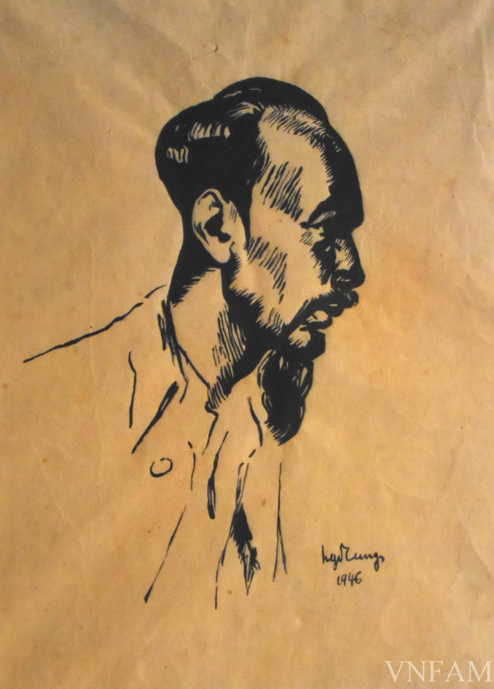 Ngắm tranh Bác Hồ của các danh họa Trần Văn Cẩn, Dương Bích Liên, Lê Bá Đảng - Ảnh 2.