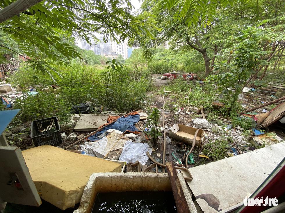 Cận cảnh lô 'đất vàng' 11 năm bỏ hoang ở Hà Nội bị kiến nghị điều tra - Ảnh 2.