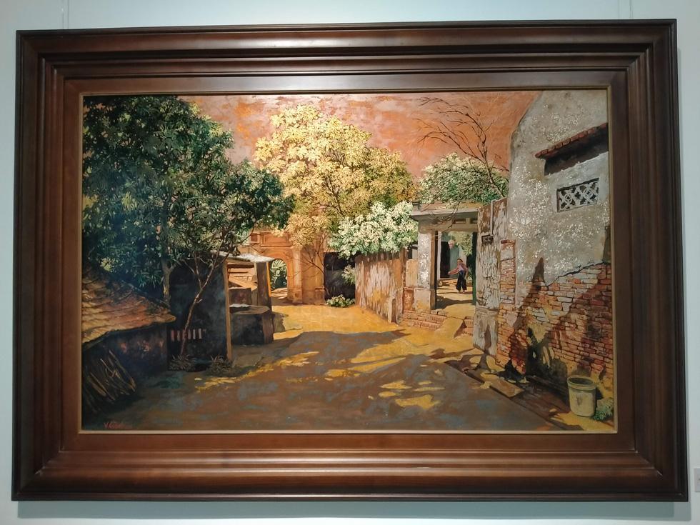 Chiêm ngắm ngôi làng nhiều biệt thự cổ của Hà Nội qua tranh vẽ - Ảnh 4.