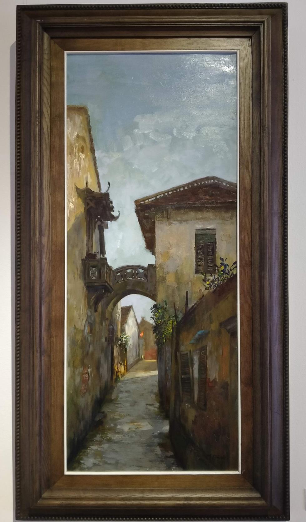 Chiêm ngắm ngôi làng nhiều biệt thự cổ của Hà Nội qua tranh vẽ - Ảnh 5.