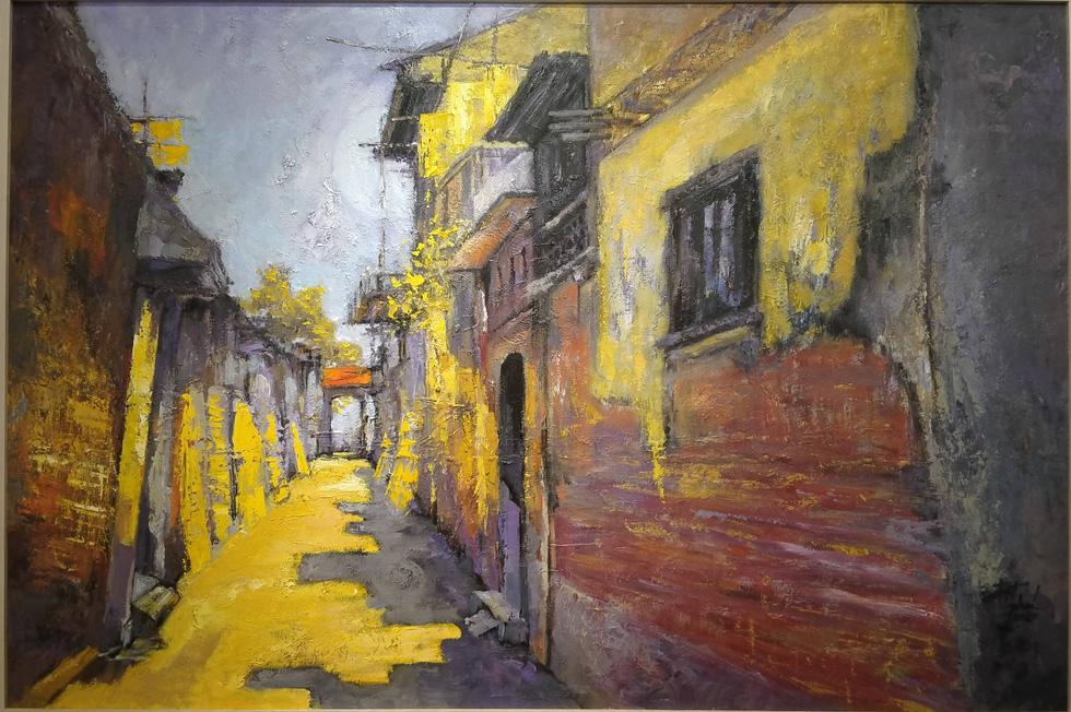 Chiêm ngắm ngôi làng nhiều biệt thự cổ của Hà Nội qua tranh vẽ - Ảnh 3.