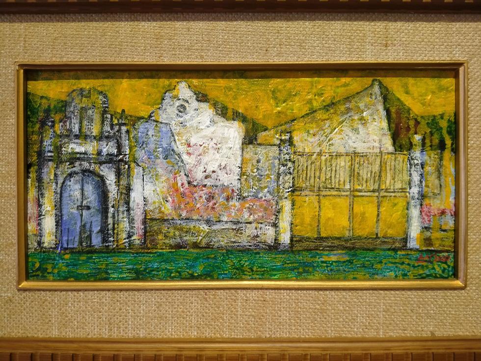 Chiêm ngắm ngôi làng nhiều biệt thự cổ của Hà Nội qua tranh vẽ - Ảnh 2.