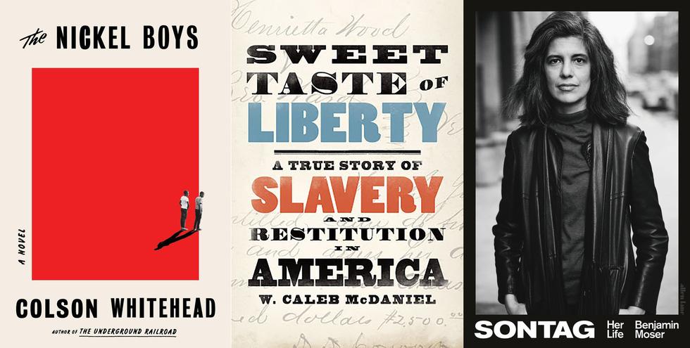 Từ trái qua: giải tác phẩm viễn tưởng, giải tác phẩm lịch sử và giải tiểu sử của Pulitzer 2020 - Ảnh: NEW YORK TIMES