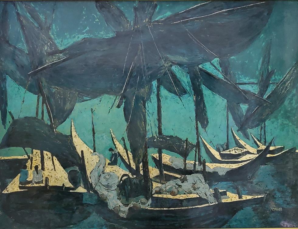 Trường Sa, nhà giàn, biển đảo... dạt dào cảm xúc trong các tác phẩm tranh, gốm - Ảnh 2.