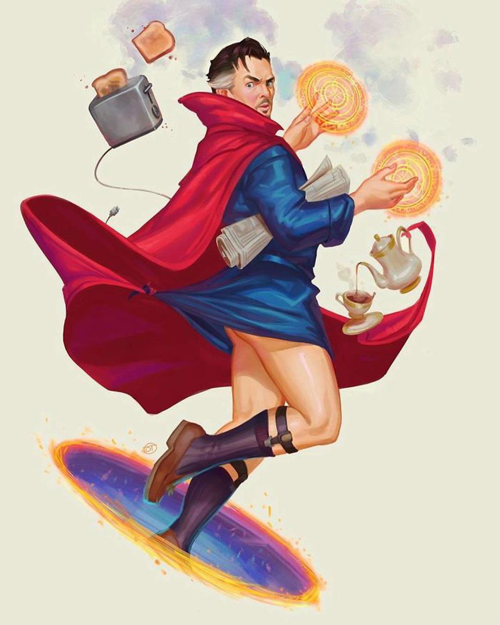 Các siêu anh hùng Marvel hóa sexy và nữ tính khi không đi cứu thế giới - Ảnh 4.
