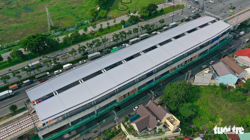 Cận cảnh các nhà ga trên cao tuyến metro Bến Thành - Suối Tiên - Ảnh 4.