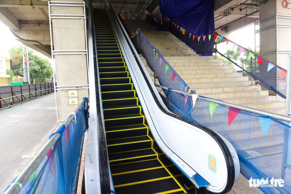 Cận cảnh các nhà ga trên cao tuyến metro Bến Thành - Suối Tiên - Ảnh 8.