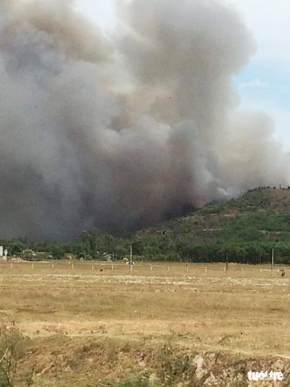 Lại cháy rừng dữ dội trong nắng nóng - Ảnh 2.