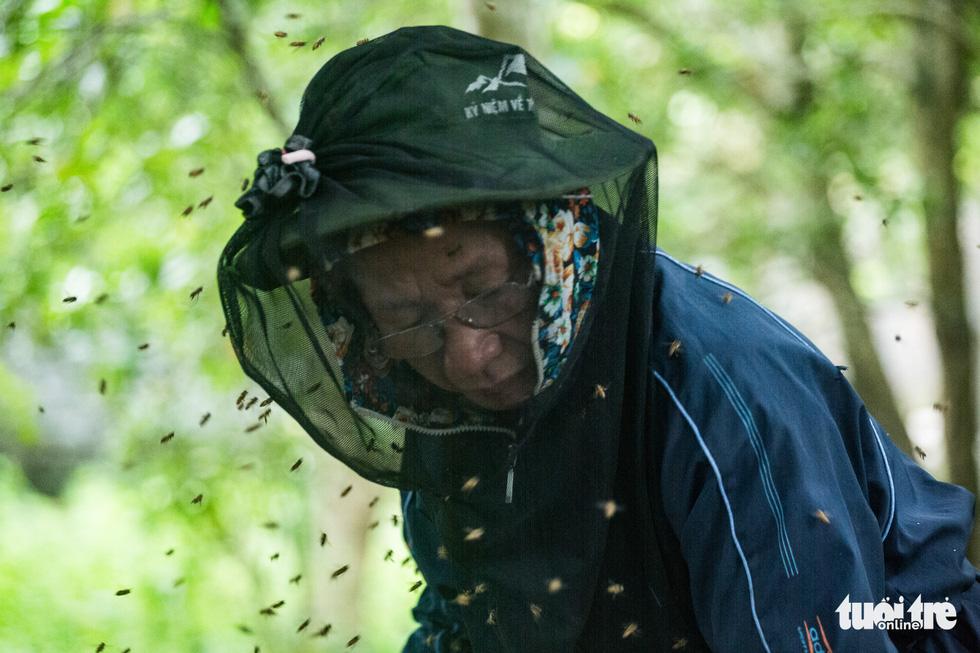Một ngày theo chân gia đình gần 30 năm nuôi ong lấy mật - Ảnh 10.