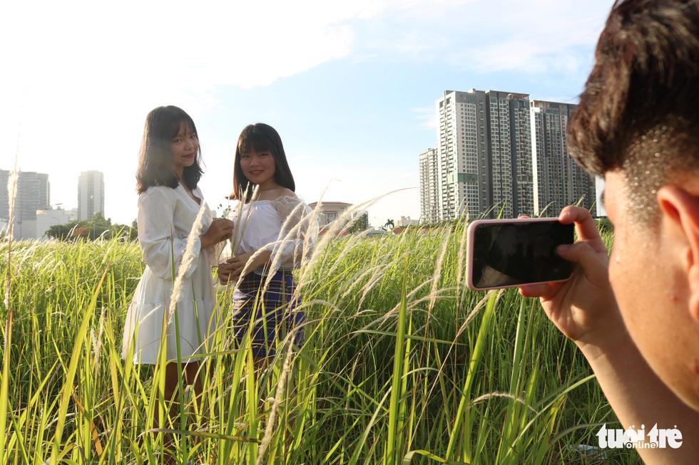 Bạn trẻ Sài Gòn thích thú check-in với cánh đồng cỏ hoang lau trắng - Ảnh 6.