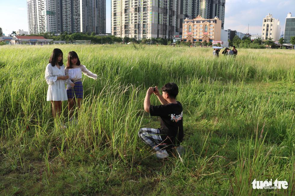 Bạn trẻ Sài Gòn thích thú check-in với cánh đồng cỏ hoang lau trắng - Ảnh 2.