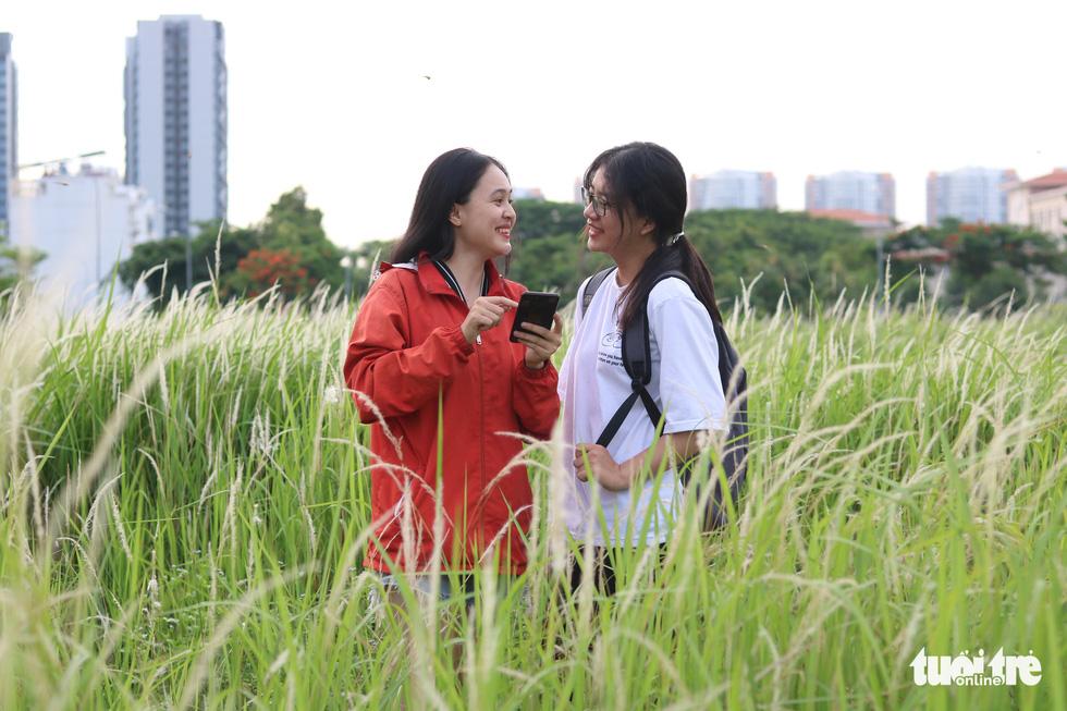 Bạn trẻ Sài Gòn thích thú check-in với cánh đồng cỏ hoang lau trắng - Ảnh 9.