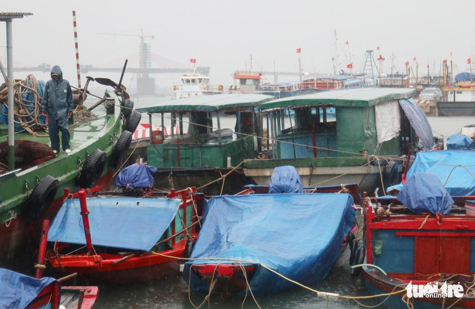 Ngư dân hối hả đưa hải sản vào bờ tránh bão số 2 - Ảnh 2.