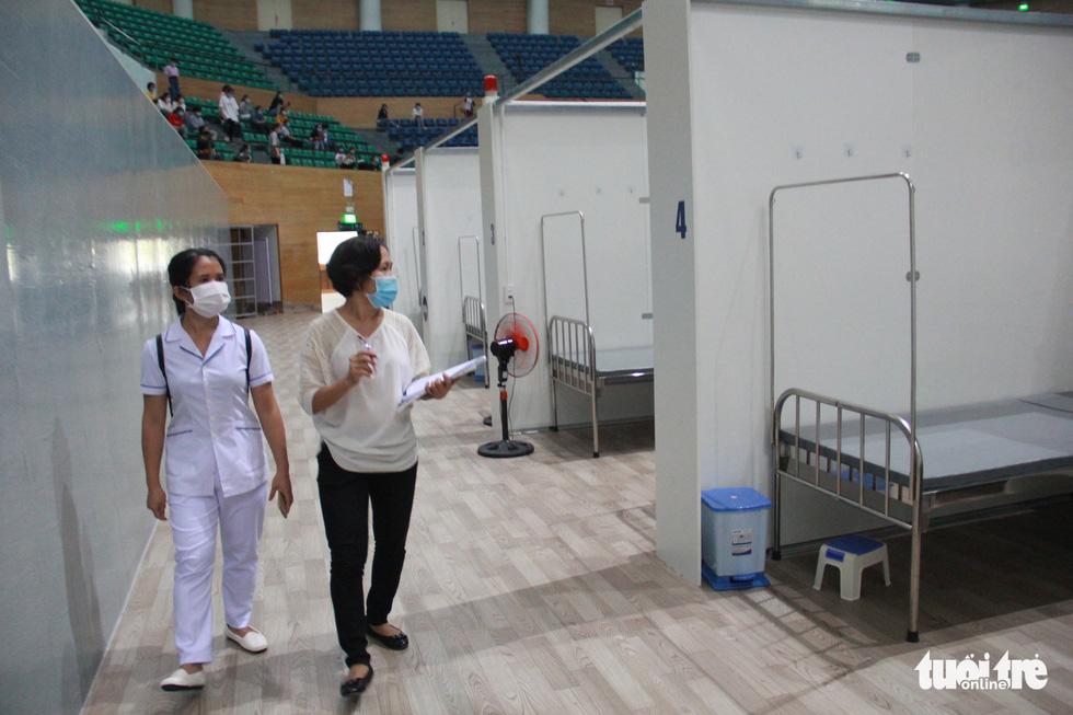 Vận hành thử bệnh viện dã chiến ở cung thể thao Tiên Sơn - Ảnh 2.