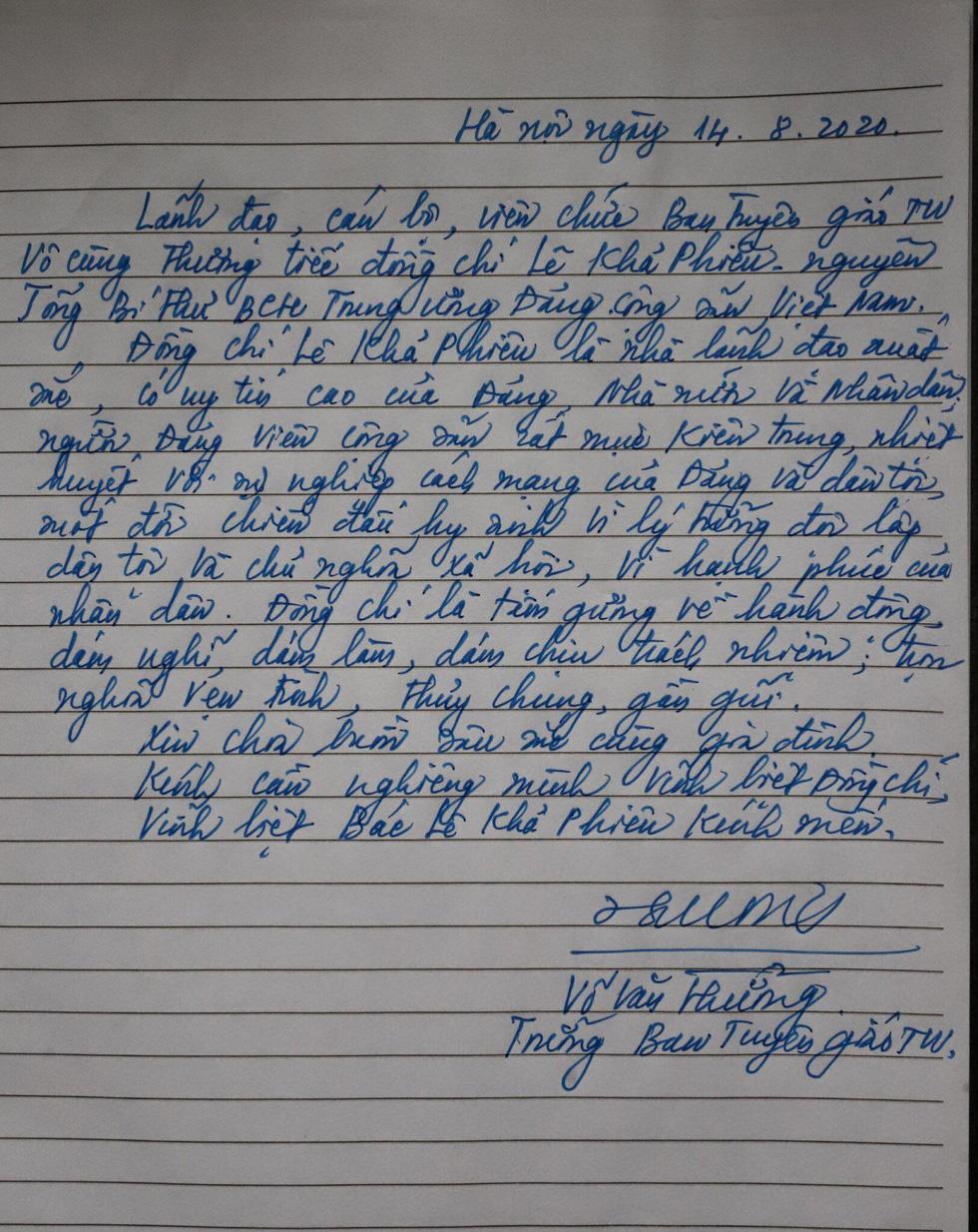 Hai ngày quốc tang, tưởng nhớ và tiễn biệt nguyên Tổng bí thư Lê Khả Phiêu - Ảnh 5.