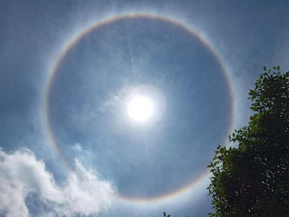 Hào quang mặt trời xuất hiện giữa trưa, người dân thích thú khoe trên mạng - Ảnh 3.