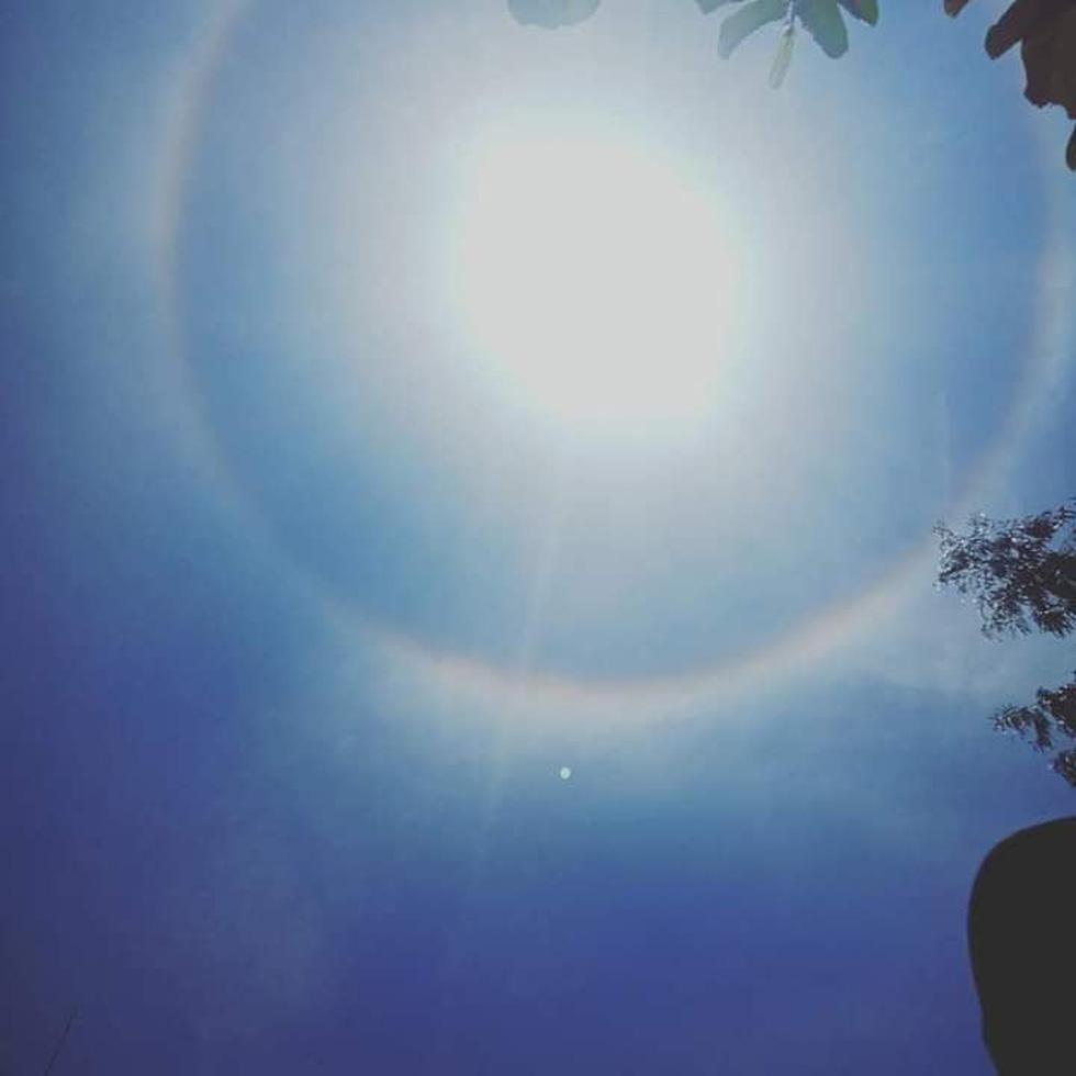 Hào quang mặt trời xuất hiện giữa trưa, người dân thích thú khoe trên mạng - Ảnh 4.
