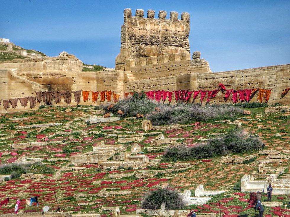 Những xưởng thuộc da truyền thống đẹp như họa phẩm ở Morocco - Ảnh 9.