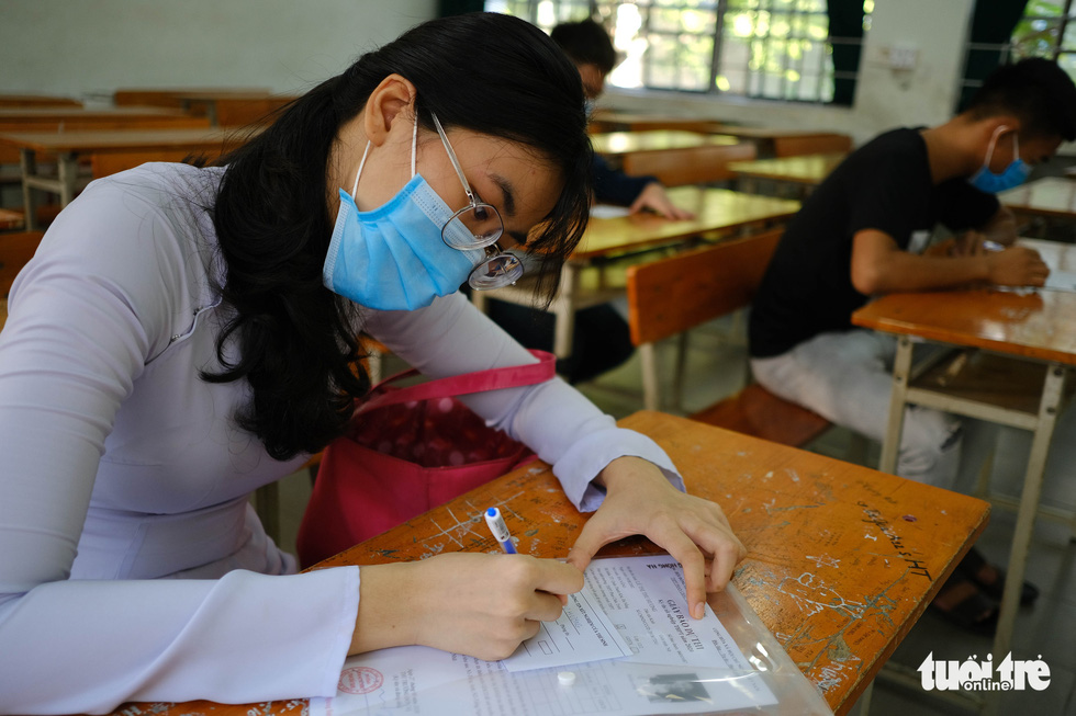 11.000 thí sinh Đà Nẵng đi xét nghiệm COVID-19, chuẩn bị bước vào kỳ thi đặc biệt - Ảnh 4.