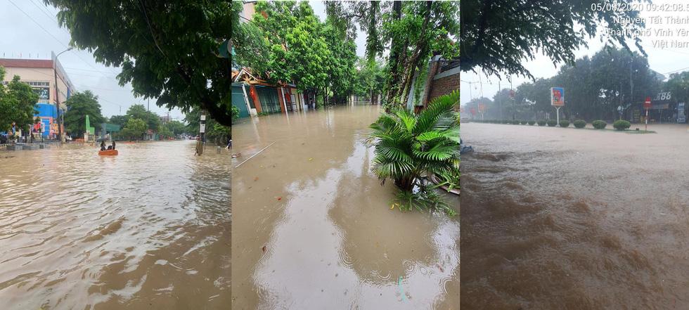 Dân bì bõm dắt xe sau cơn mưa lớn tại Vĩnh Phúc - Ảnh 8.