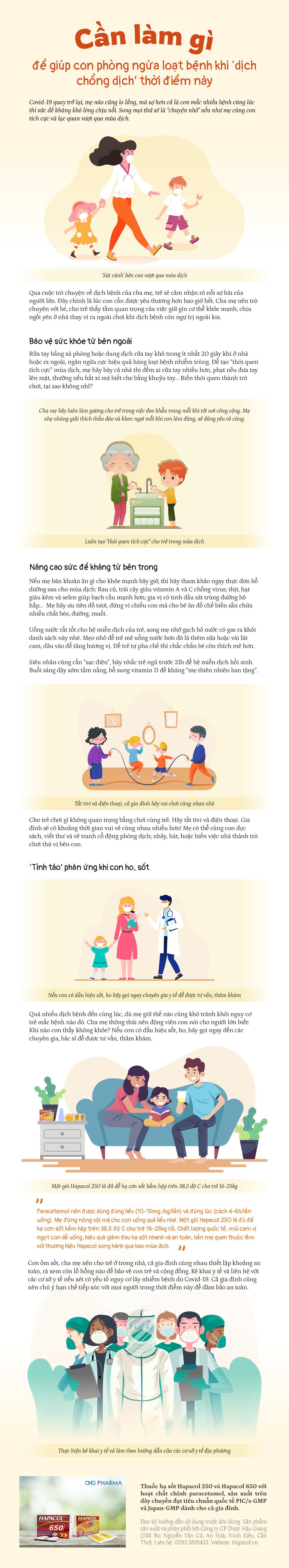 Cần làm gì để giúp con phòng ngừa loạt bệnh khi 'dịch chồng dịch' thời điểm này. - Ảnh 1.