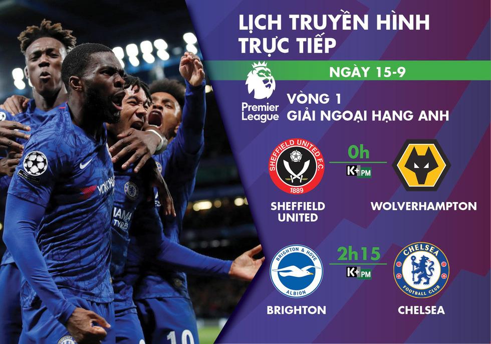 Lịch trực tiếp vòng 1 Giải ngoại hạng Anh: Chờ Chelsea xuất trận - Ảnh 1.