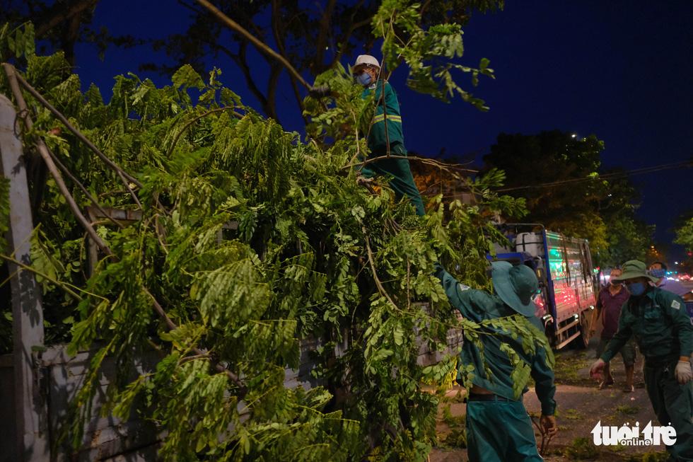 Đà Nẵng khẩn trương cắt tỉa cây xanh trước giờ bão số 5 đổ bộ - Ảnh 1.